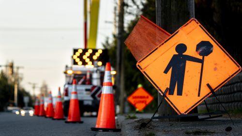 Lane closure in a work zone